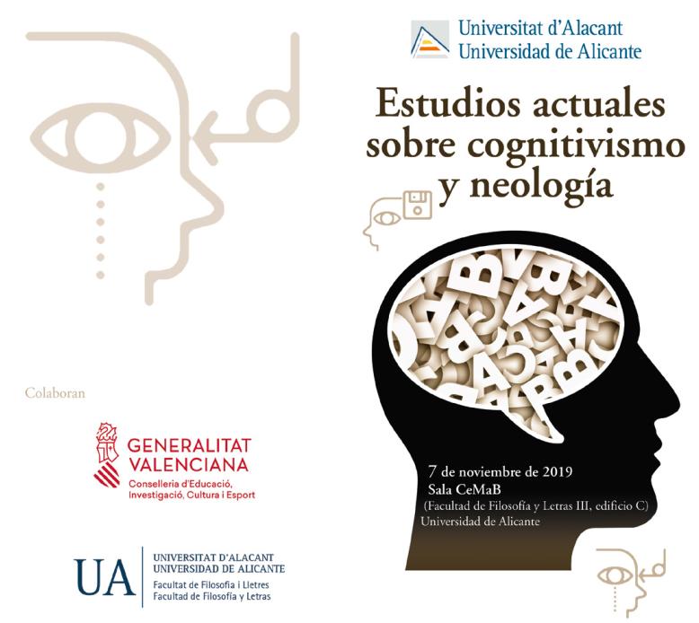 """Jornadas """"Estudios actuales sobre cognitivismo y neología"""""""