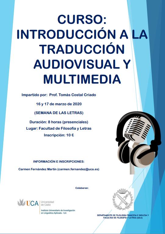 """Curso """"Introducción a la traducción audiovisual y multimedia"""""""