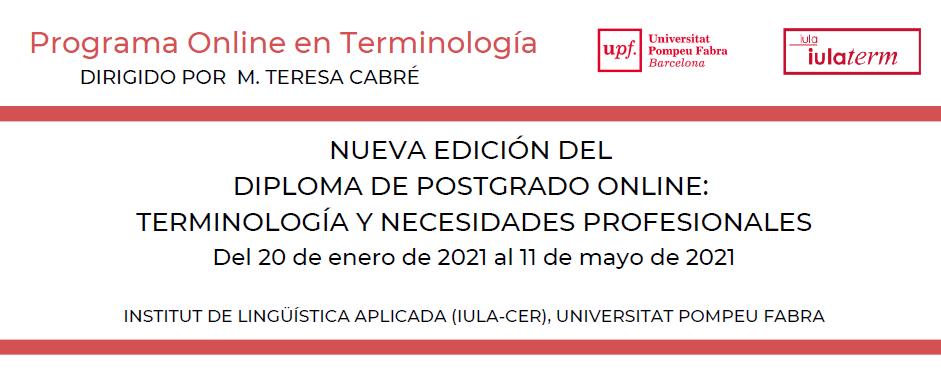 IMG NUEVA EDICIÓN DEL DIPLOMA DE POSTGRADO ONLINE: TERMINOLOGÍA Y NECESIDADES PROFESIONALES